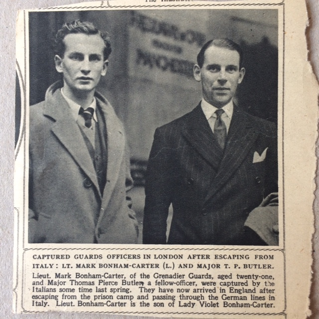 T Butler and M Bonham-Carter after their return to England, 1943ish